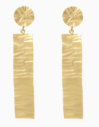 Belsi'S Jewelry - Belsis Long Handbitten Gold Tone Earrings - INDIASPOPUP.COM