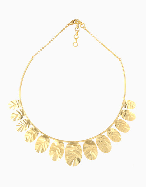 Belsis Handbitten Gold Tone Necklace