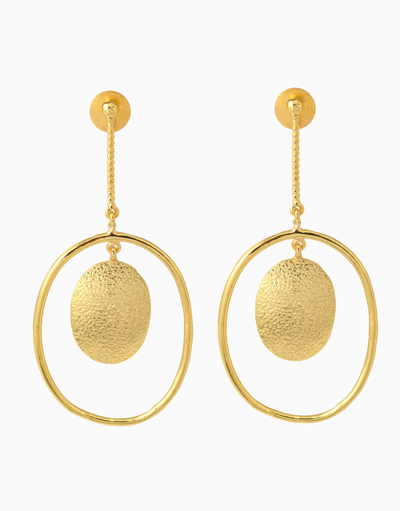 Belsi'S Jewelry - Belsis Round Drop Chain Earrings - INDIASPOPUP.COM