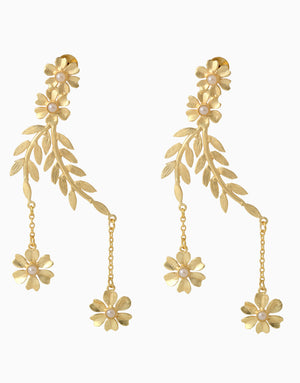 Belsi'S Jewelry - Belsis Leaf Shaped Hanging Earrings - INDIASPOPUP.COM