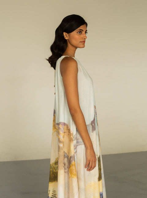 Cord-Mutli Circle Dress-INDIASPOPUP.COM