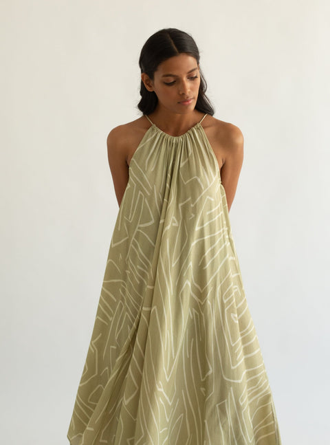 Cord-Pista Circle Dress-INDIASPOPUP.COM