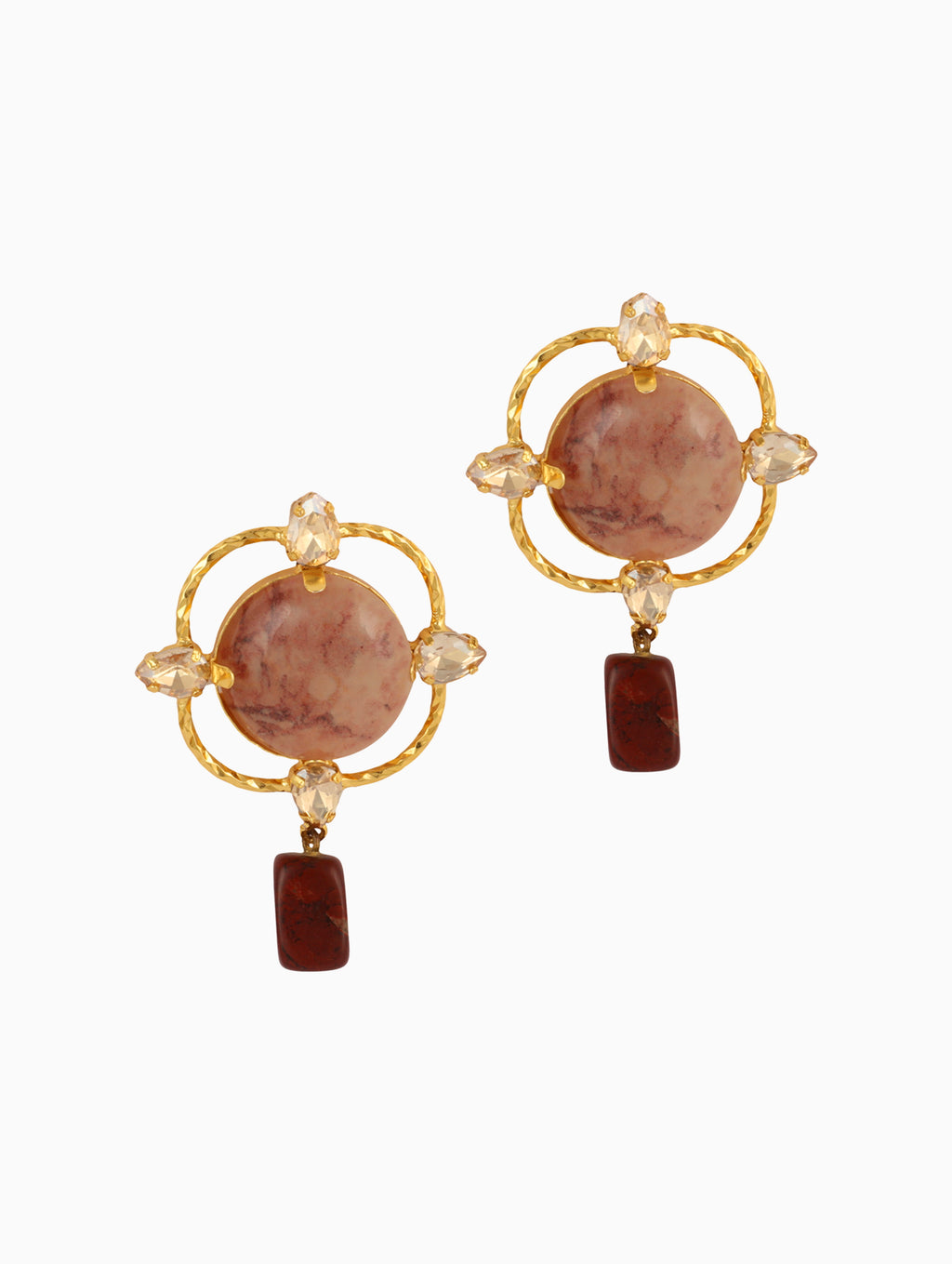 Chic Therapy - Rose Statement Earrings - INDIASPOPUP.COM