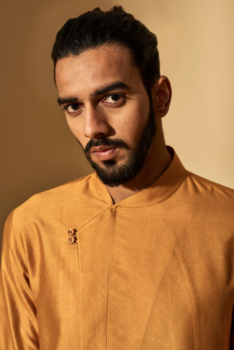 Dhruv Vaish-Sahara Sun Two Button Kurta Set-INDIASPOPUP.COM