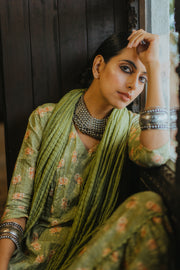 Paulmi & Harsh-Parrot Green Kurta Set-INDIASPOPUP.COM