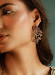 Esme-Adella Earrings With Swarovski Rounds-INDIASPOPUP.COM