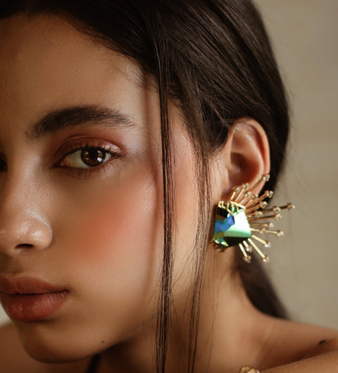 Esme-Mishell Earrings With Swarovski-INDIASPOPUP.COM