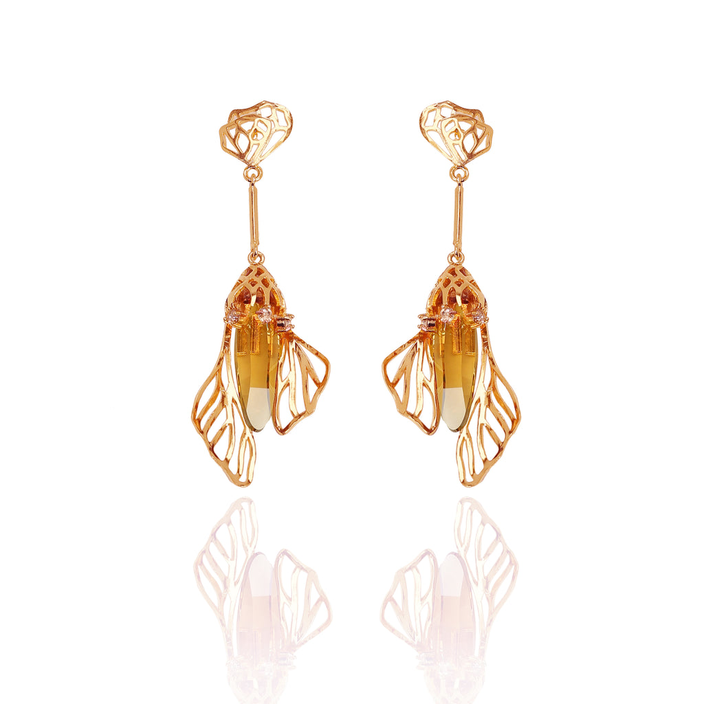 Esme-Ezili Earrings With Swarovski-INDIASPOPUP.COM