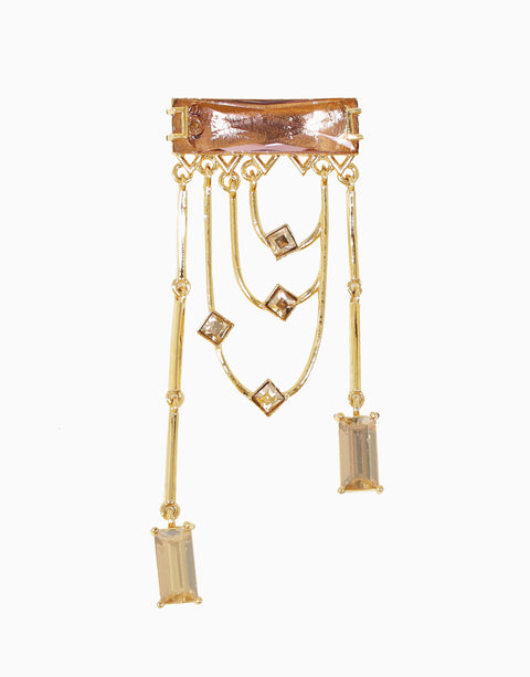 Esme-Light Pink & Gold Tango Earring-INDIASPOPUP.COM