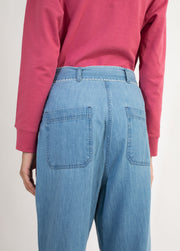 La Fuori-Pink & Blue Sweatshirt With Crop Pants-INDIASPOPUP.COM