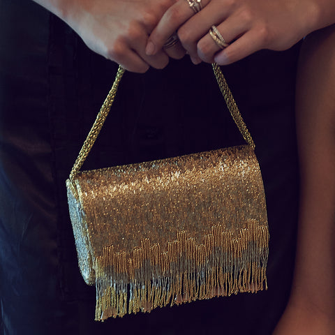 Lovetobag-Gold Ritzy Flapover Clutch-INDIASPOPUP.COM