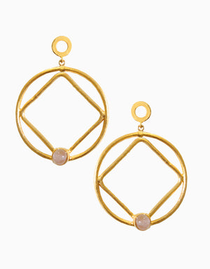 Hyperbole - Pink Geometry Hoop Earrings - INDIASPOPUP.COM