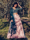 Forest Green & Mauve Lehenga Set
