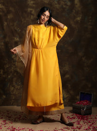 Kanika Sharma-Yellow Aamras Chola With Odhni-INDIASPOPUP.COM