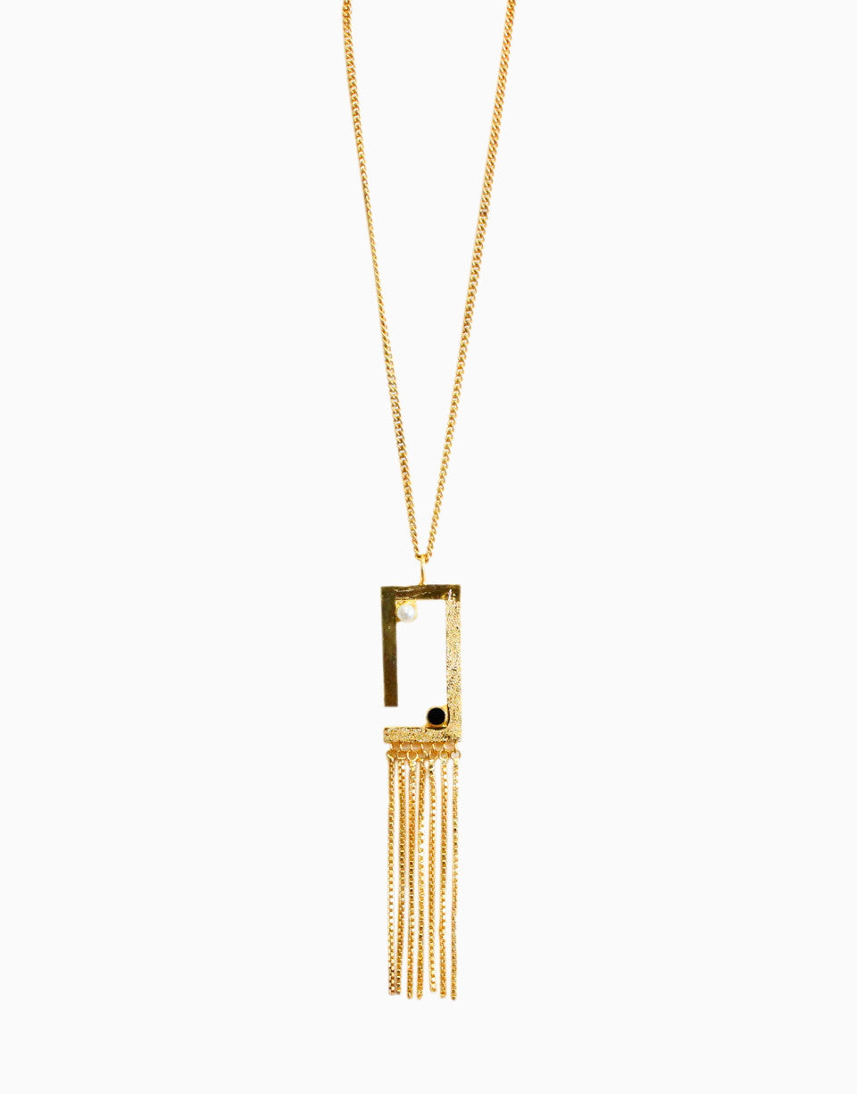 HYPERBOLE GOLDEN TETRIS NECKLACE