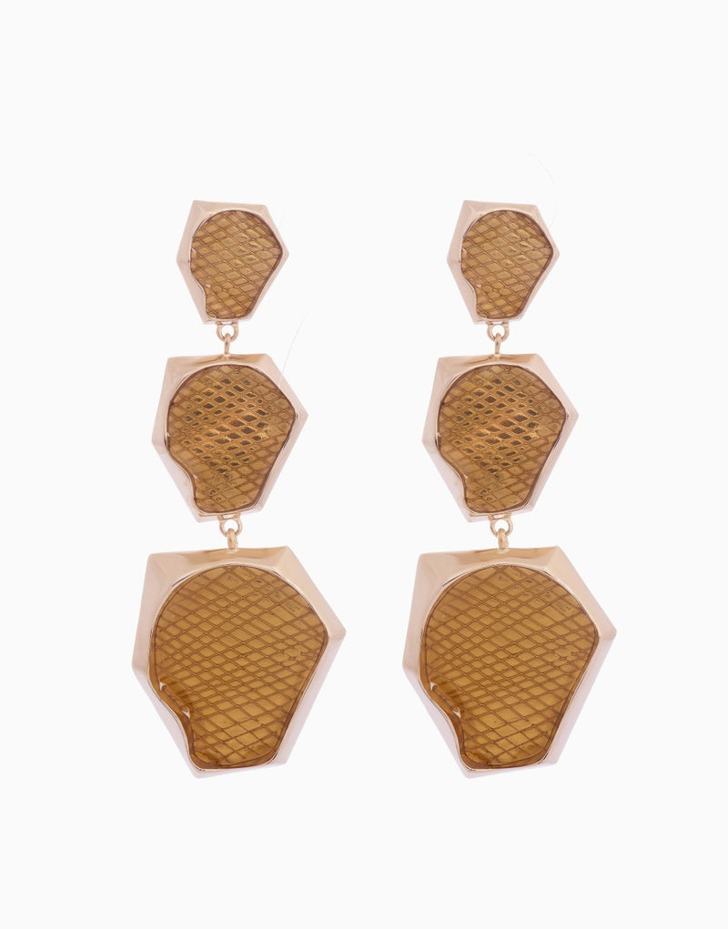 BANSRI JEWELRY GOLD KENDRA OMBRE STATEMENT EARRING