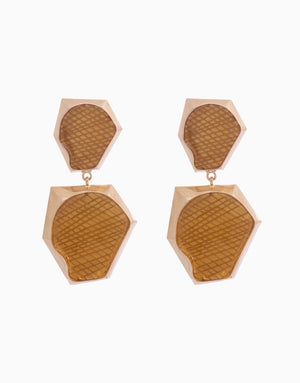 Bansri Jewelry - Gold Auriel Double Drop Earring - INDIASPOPUP.COM