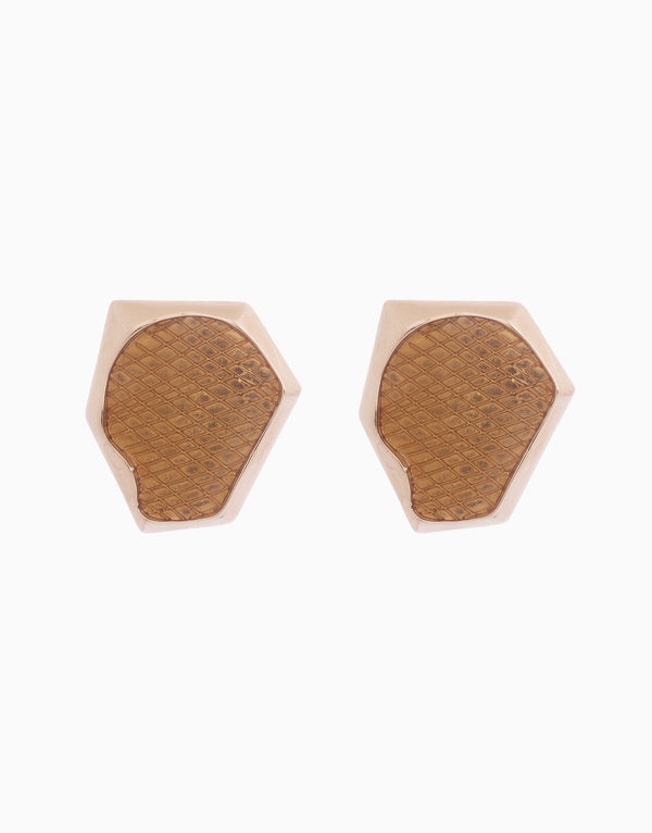Bansri Jewelry - Gold Aria Stud Earrings - INDIASPOPUP.COM