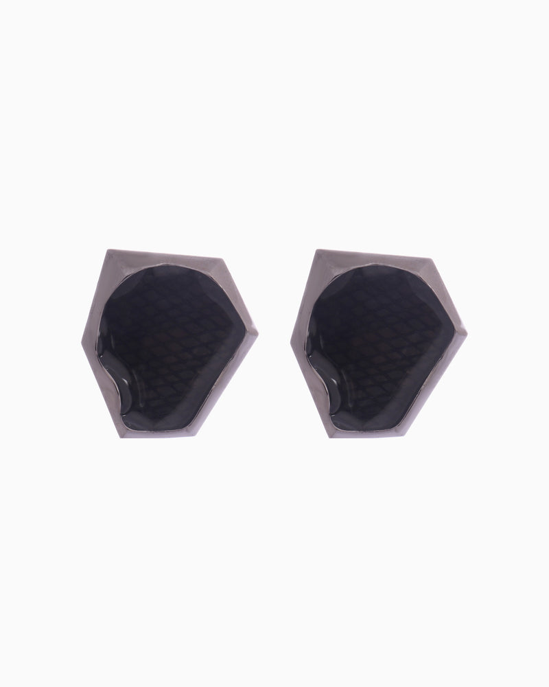 Bansri Jewelry - Black Aria Stud Earrings - INDIASPOPUP.COM