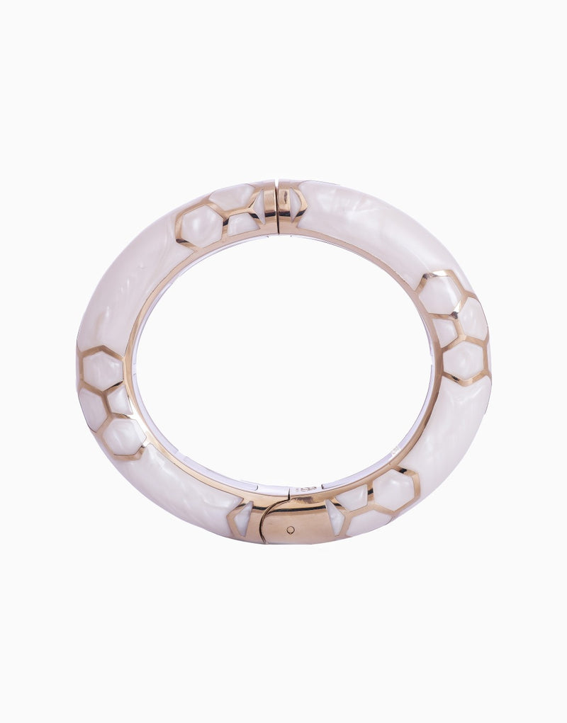 BANSRI JEWELRY GOLD HEIDI HINGED BANGLE