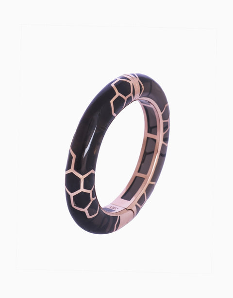 Bansri Jewelry - Rosegold Heidi Hinged Bangle - INDIASPOPUP.COM