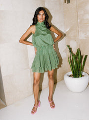 Kangana Trehan-Green Turtle Neck Dress-INDIASPOPUP.COM