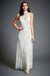 Jywal London-Embellished Halter Neck Wedding Dress-INDIASPOPUP.COM
