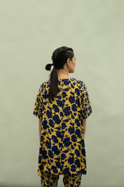 Kanelle-Black & Yellow Printed Top-INDIASPOPUP.COM