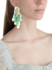 House Of Doro-Turquoise Bohemian Beach Earrings-INDIASPOPUP.COM