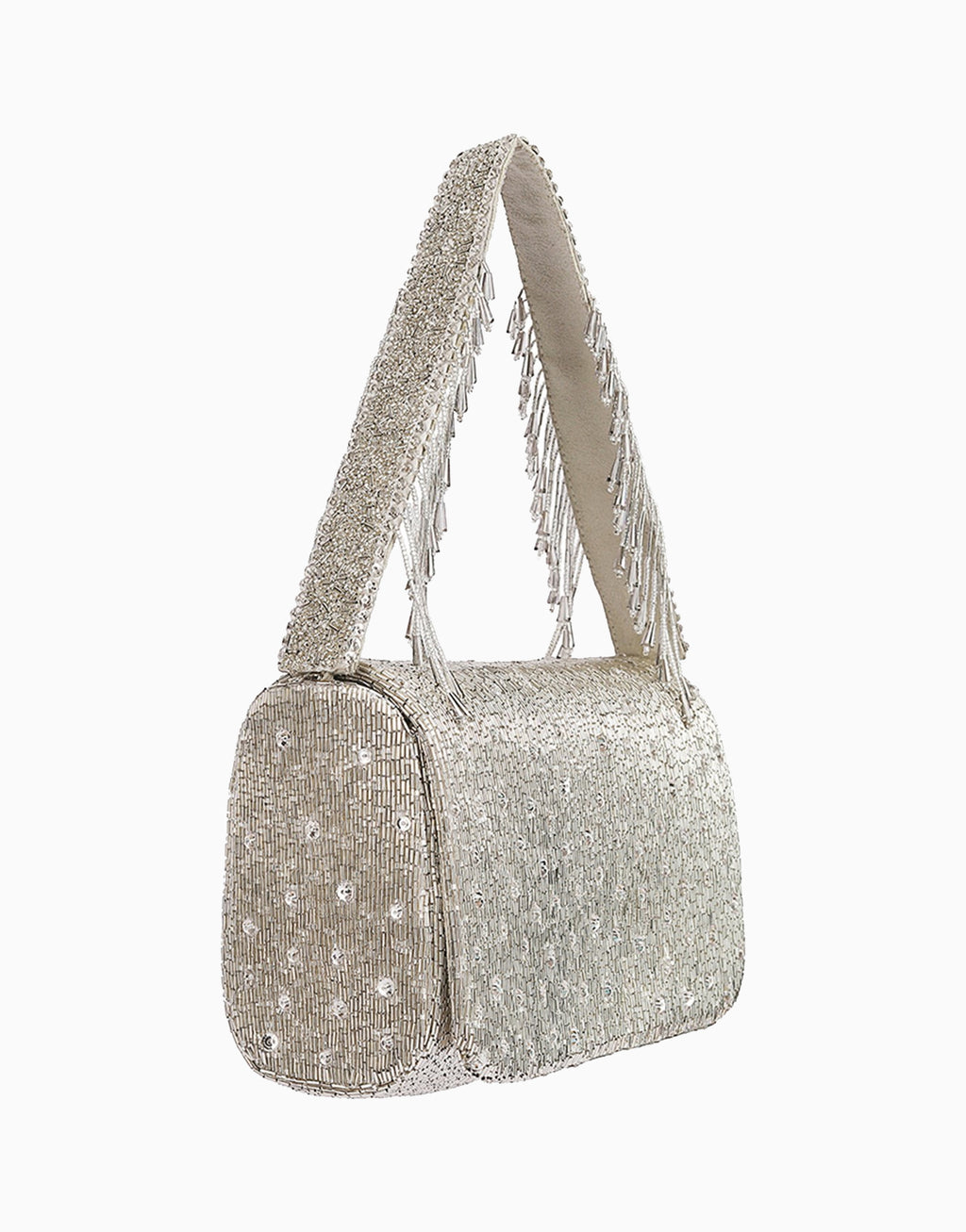 Lovetobag-Silver Eclat Sqb With Handle-INDIASPOPUP.COM