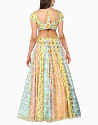 Preeti S Kapoor - Multi Colored Lehenga Skirt - INDIASPOPUP.COM