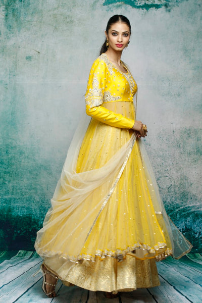 Golden & Yellow Kurta Set