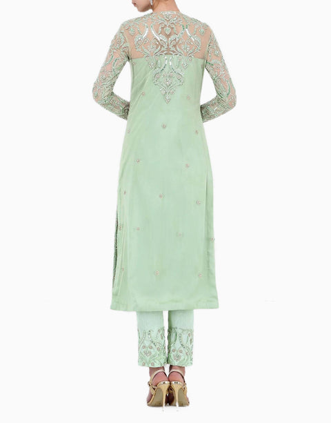 Megha & Jigar - Mint Green Kurta & Pants With Dupatta - INDIASPOPUP.COM