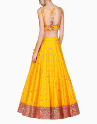 Megha & Jigar - Yellow Lehenga Set With Dupatta - INDIASPOPUP.COM