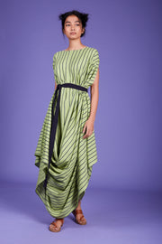 Mati-Green Mati Cowl Dress-INDIASPOPUP.COM