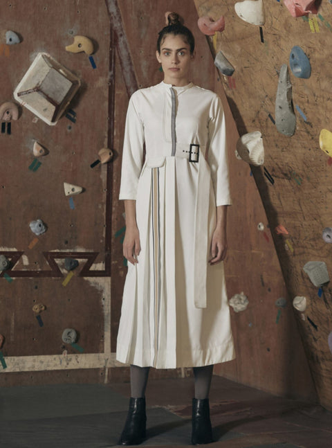 Notebook-Ivory Shirt Dress-INDIASPOPUP.COM