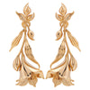 Opalina-Yellow Gold Finish Flower Bud Earrings-INDIASPOPUP.COM
