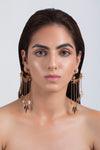 Opalina-Yellow Gold Finish Wreath Earrings-INDIASPOPUP.COM