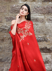 Prathyusha Garimella - Red Top With White Palazzo - INDIASPOPUP.COM