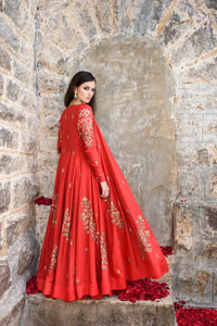 Prathyusha Garimella - Red Lehenga Skirt With Cape - INDIASPOPUP.COM