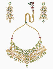 Polki Box Jewelry - Gold Plated Seven Layer Necklace Set - INDIASPOPUP.COM