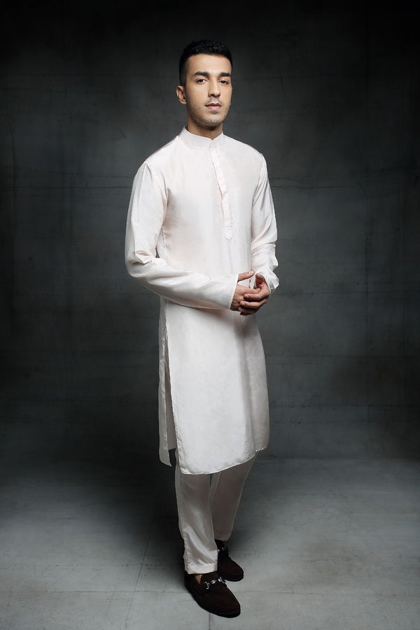 Pink Peacock Couture-Off White Kurta Set-INDIASPOPUP.COM
