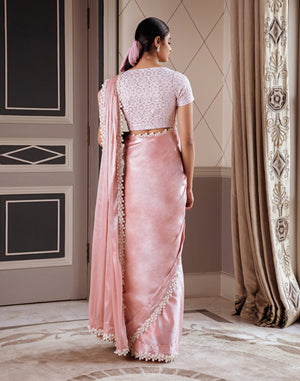 Pernia Qureshi - Pink Metallic Saree With Blouse - INDIASPOPUP.COM