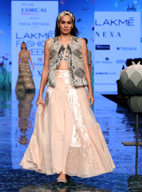 Payal Singhal-Stone Embroidered Lehenga Set-INDIASPOPUP.COM