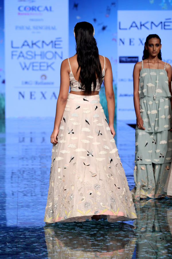 Payal Singhal-Dusky Rose Embroidered Lehenga Set-INDIASPOPUP.COM