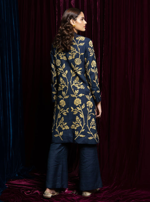 Payal Pratap-Blue Embroidered Kurta With Pants-INDIASPOPUP.COM