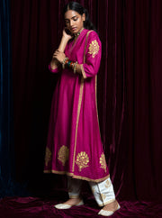 Payal Pratap-Pink & Ecru Kurta With Pants-INDIASPOPUP.COM