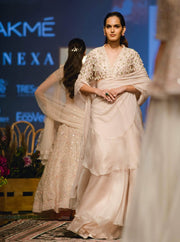 Ridhi Mehra - Ivory Embroidered Saree With Blouse - INDIASPOPUP.COM