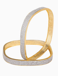 Rose Jewelry - Gold Plated Square Shaped Bangles - INDIASPOPUP.COM