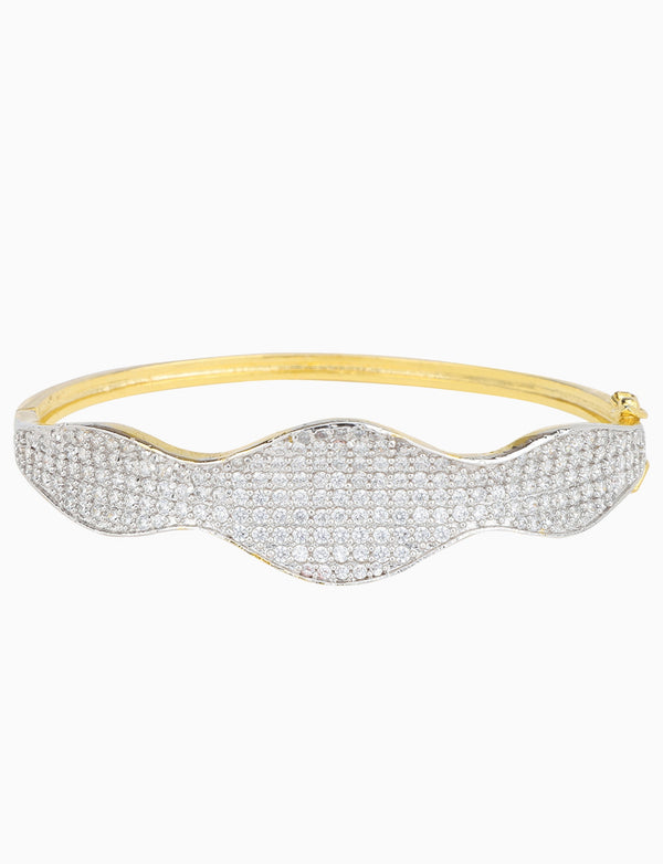 Rose Jewelry - Gold Plated Zircons Studded Bracelet - INDIASPOPUP.COM
